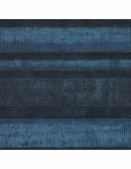 Amigo Striped Rug in Dark Blue