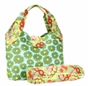 Amy Butler Tulip Diaper Bag in Poppy Flower Green