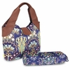 Amy Butler Wildflower Diaper Bag in Fuchsia Tree Navy