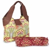 Amy Butler Wildflower Diaper Bag in Fuchsia Tree Tomato