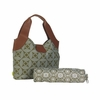 Amy Butler Wildflower Diaper Bag in Sun & Moon Sepia