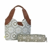 Amy Butler Wildflower Diaper Bag in Treasure Box Cinder