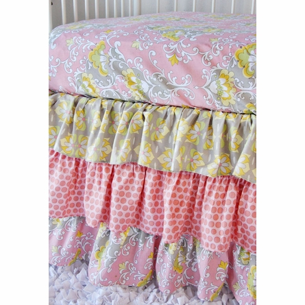 Amy's Garden Bumper Free Crib Bedding Set