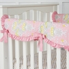 Amy's Garden Damask Crib Rail Cover