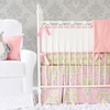 Amy's Garden Flat Panel Crib Bedding Set