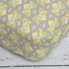 Amy's Garden Gray Lotus Crib Sheet