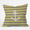 Anchor 2 Throw Pillow