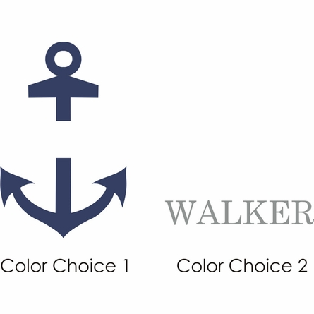 Anchor Boy Personalized Wall Decal