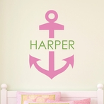 Anchor Girl Personalized Wall Decal