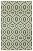 Anchor Lattice Rug in Green