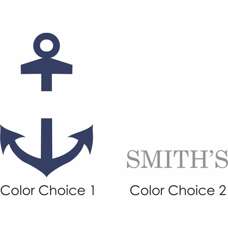 Anchor Name Personalized Wall Decal