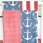 Anchors Away in Navy Baby Blanket