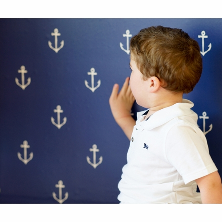 Anchors Away Removable Wallpaper in Navy