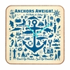 Anchors Aweigh Square Wall Clock