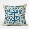 Anchors Aweigh Throw Pillow