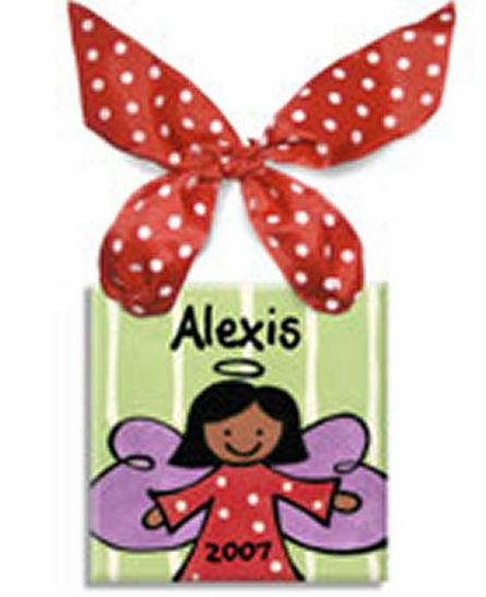 Angel Girl Personalized Christmas Ornament