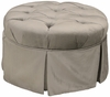 Angel Song Park Avenue Round 28 Inch Gliding Ottoman - Aspen Silver