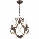 Angelina Four Light English Bronze Pendant