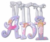 Ani Purple Fairies Hand Painted Wall Letters