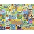Animal Action Canvas Wall Mural