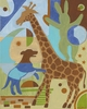 Animal Crackers in my Soup-Giraffe Canvas Reproduction