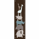 Animal Pile Up in Teal Growth Chart