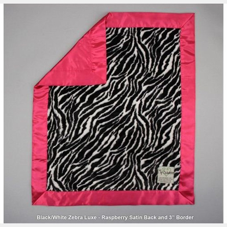 Animal Print Luxe Baby Blanket with Satin Back