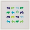 Animal Sudoku - Elephants Framed Art