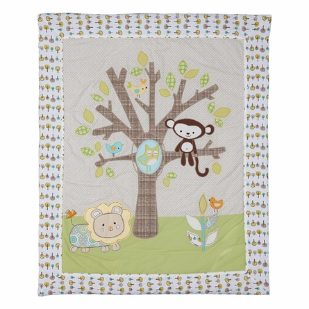 Animal Tree All Seasons Crib or Toddler Quilt