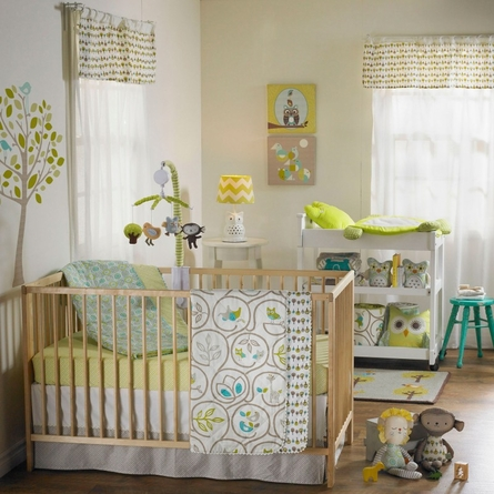 Animal Tree Quilted Crib Comforter