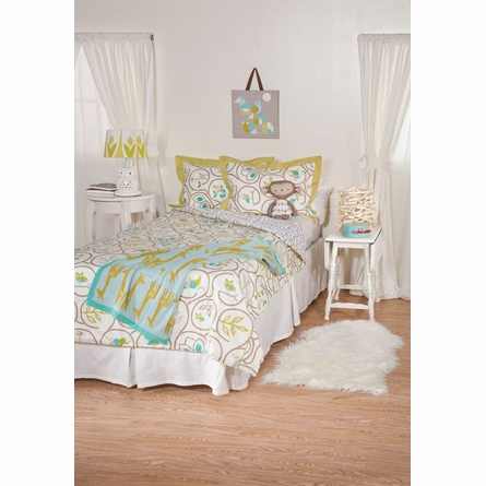 Animal Tree Twin Comforter and Sham Set