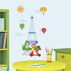 Animals in Paris Wall Decals