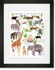 Animals of Africa Framed Art Print