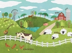 Animals On The Farm Canvas Wall Art