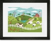 Animals On The Farm Framed Art Print