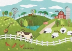 Animals On The Farm Placemat