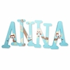 Anna Aqua Treetop Friends Hand Painted Wall Letters