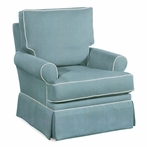 Anna Upholstered Swivel Glider Chair
