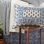 Annette Blue Quilted Sham