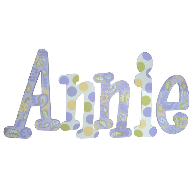 Annie Paisley Hand Painted Wall Letters Rosenberryrooms Com