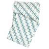 Antique Batik Turquoise Throw Blanket
