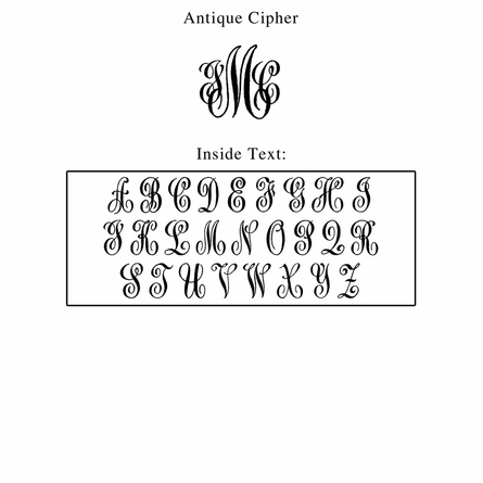 Antique Cipher Personalized Self-Inking Stamp