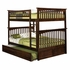 Antique Walnut Classic Arch Slatted Bunk Bed