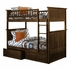 Antique Walnut Classic Beadboard Bunk Bed