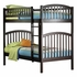 Antique Walnut Modern Curved Slatted Bunk Bed