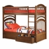 Antique Walnut Traditional Curved Slatted Bunk Bed