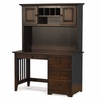 Antique Walnut Traditional Desk with Hutch