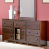 Antique Walnut Traditional Seven Drawer Dresser