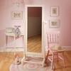 Antique White Scalloped Floor Mirror