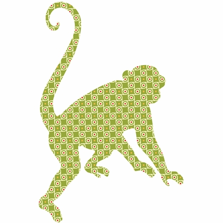Antoinne the Monkey Peel & Stick Wall Decals